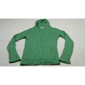 Cable Knit Sweater green,